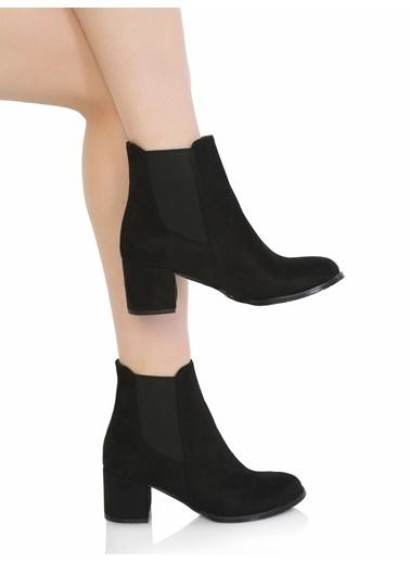 Derigo Kalın Topuklu Bot Siyah